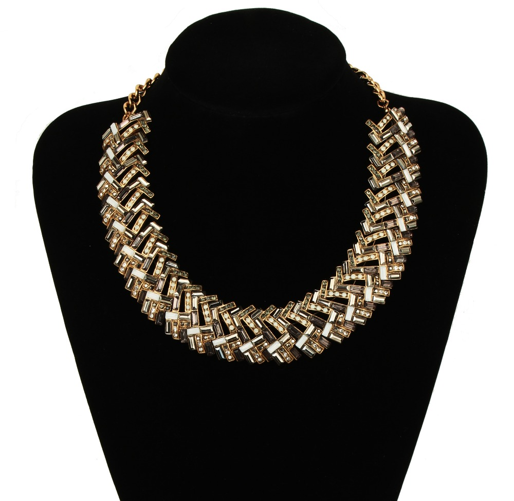 costume jewelry hong kong high quality crystal beadedcollar necklace fashion collar jewelry