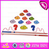 2015 Wonderful kids fishing game toy,Interesting product children wooden fishing game toy,13 PCS wooden fishing game toy W01A085