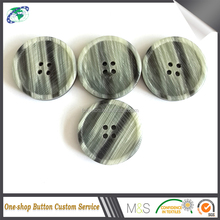 Custom New Fancy Contrast Color Plastic Botones Factory Quality Resin Button For Men Suit Accessories