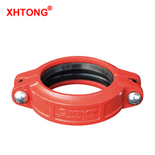 FM UL Approval Ductile Iron Grooved Rigid Coupling Pipe <strong>Fittings</strong> For Fire Fighting Piping Delivery Usage