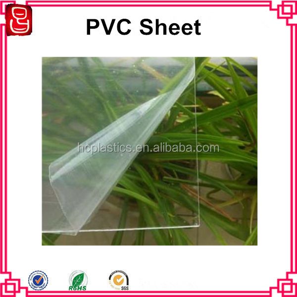 High Impact Transparent PVC Rigid Sheet, Clear 1mm PVC Sheet