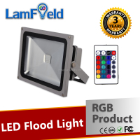 Multi-Function IR Control 30W RGB LED Flood Light For Garden Decoration