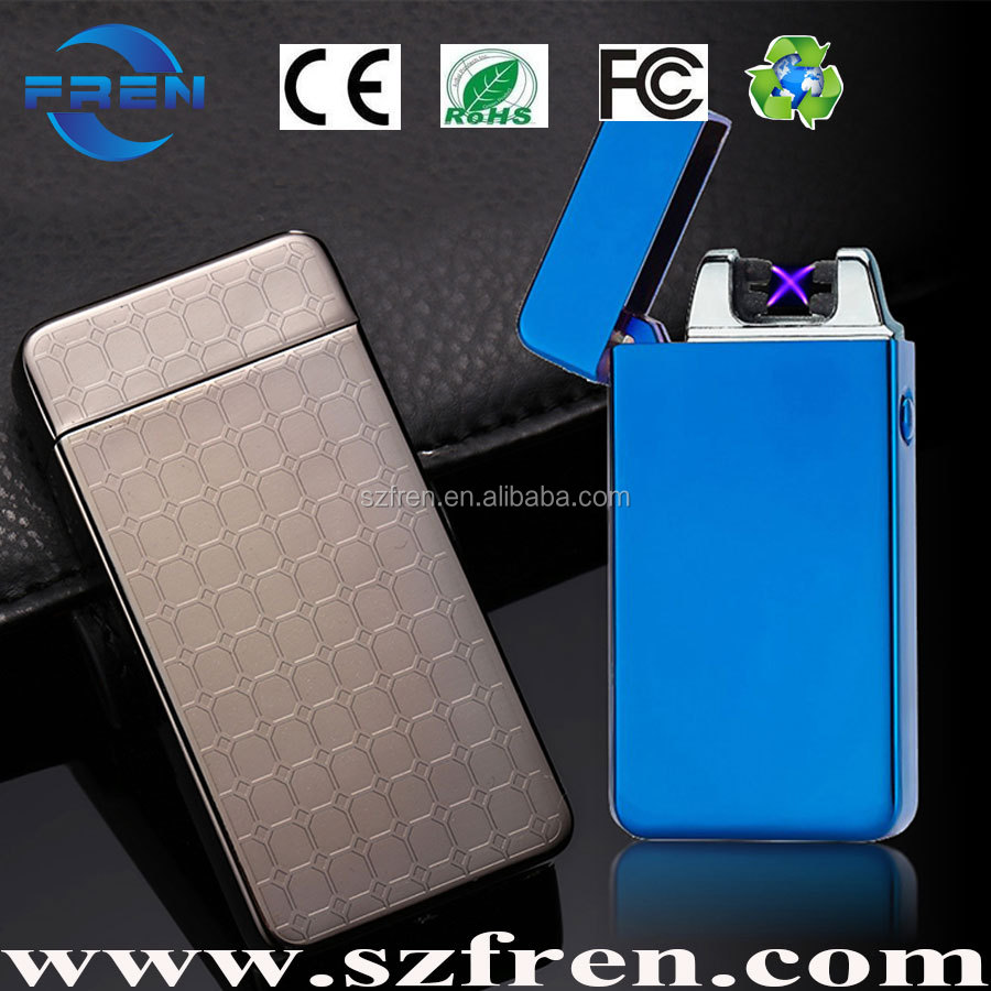 FREN 2017 Promotion High Quality Colorful Usb Electric cigarette Arc Lighter