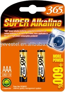 365 Super Alkaline AAA/LR03/AM4 BATTERY/1.5V