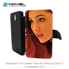 Cheap price pu leather sublimation phone case for galaxy Note3