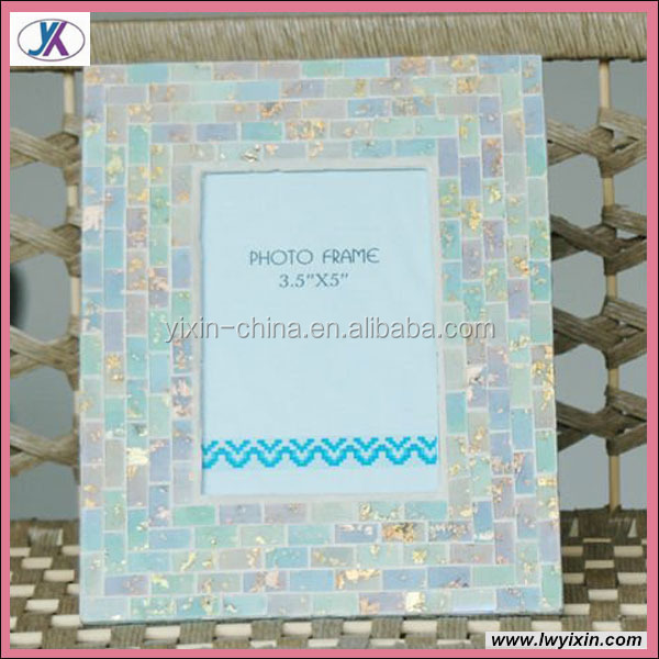 New Design Mosaic Glass Hoarding Photo Frames10/Home decoration mosaic frame
