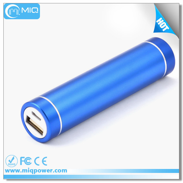 MIQ perfume hot sale power bank 2600mah portable mini charger with LED light