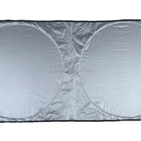 Sliver Coated Polyester Car Front Sun