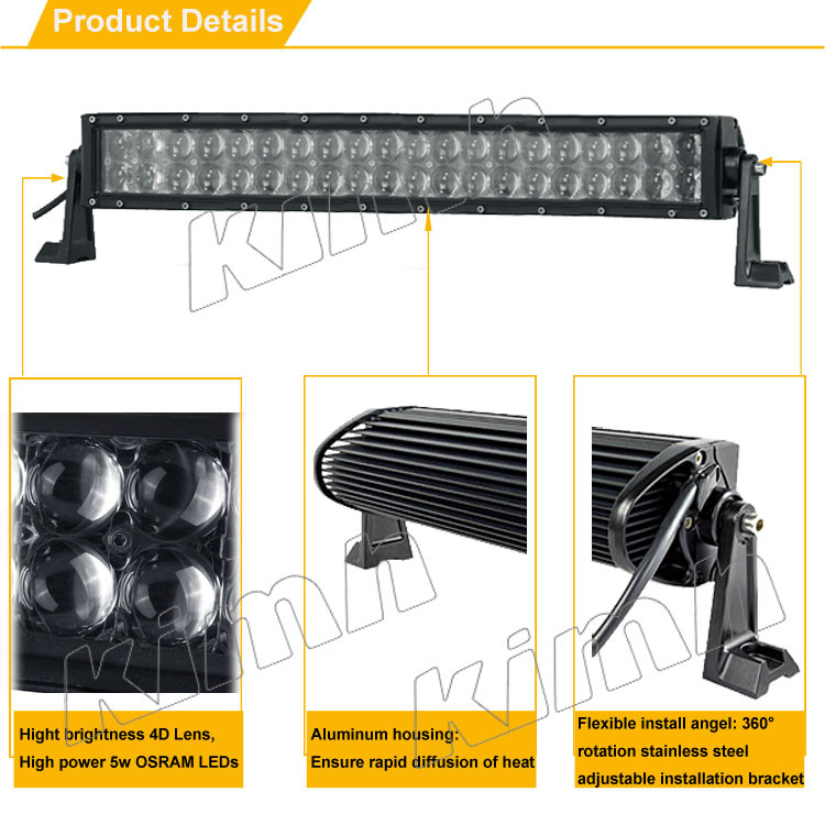 "52"" straight car accessories tow truck 4x4 4D 500w 12v led light bar"