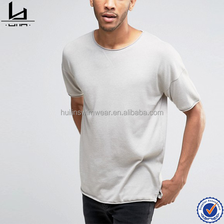 Soft lightweight scoop neck t shirt custom men cotton t shirt printing your own logo t shirt