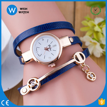 LBW016 Free Shipping Ladies Leather Bracelet Watch woman rhinestone Warp Watch Bracelets girl's gift watch bracelets