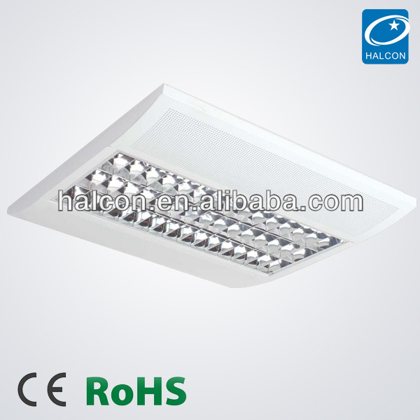 2014 hot sale CE RoHs certified office grille ceiling lighting fixture t5 light fixtures grid fluorescent ceiling light fixture