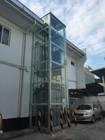 home elevator with steel structure