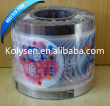 PET+CPP printed plastic wrap sealing film for plastic cup
