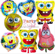2015 new arrival best quality Pirate Spongebob helium balloons, aluminium yellow foil ballon round helium baloon for baby toys