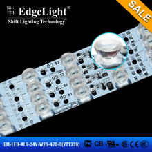 Edgelight heat resistant led strip , super bright PWM programmable UL listed power strip light with new lens led strip lighting