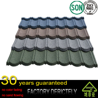 factory wholesale 100% natural sand stone New Design Colorful Stone Coated Metal Roofing Tile with Good Pirce