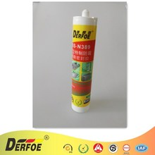 2018 Prevalent Market High Quality Dry Time Fast Grey Clear Red Black Neutral Anti-Mildew Silicone Sealant N389