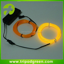 Custom el flashing wire / luminescent wire El wire 5m with inverter