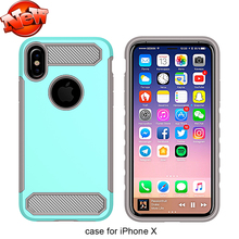 For Iphone 10 Cellphone Case , Carbon Fiber Protective Mobile Cover For Iphone X 10 Case Cover