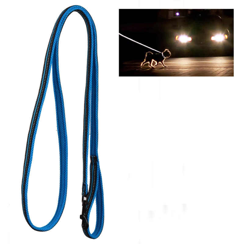 Soft Padded Mesh Reflective Glow in the Dark Walking Pet Dog Leash For Medium Large Dogs