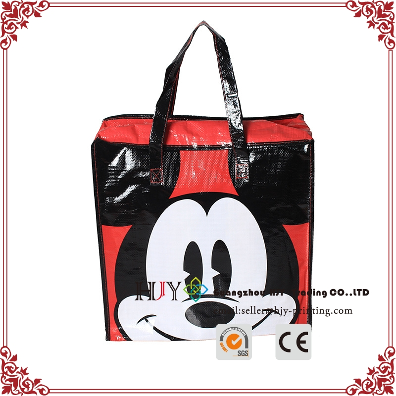 Hot Portable zipper PP Non-Woven Travel Bag,pp non woven Moving bag, non-woven shopping bag