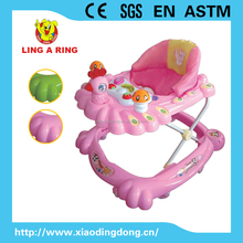 2018 Hot sale lovely with music walker for baby Wholesale Cheap new baby musical with lighting music board Plastic baby walker