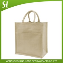 high quality 6 bottle wine natural jute bag