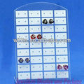 Hot sale! White L-shaped acrylic earring display holder/organizer/stander with 36 holes