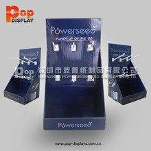 Custom PDQ cardboard counter display for mobile accessories