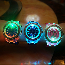 movement Han edition hollow out led luminous light-emitting diamond students watch factory direct sale college students Watch