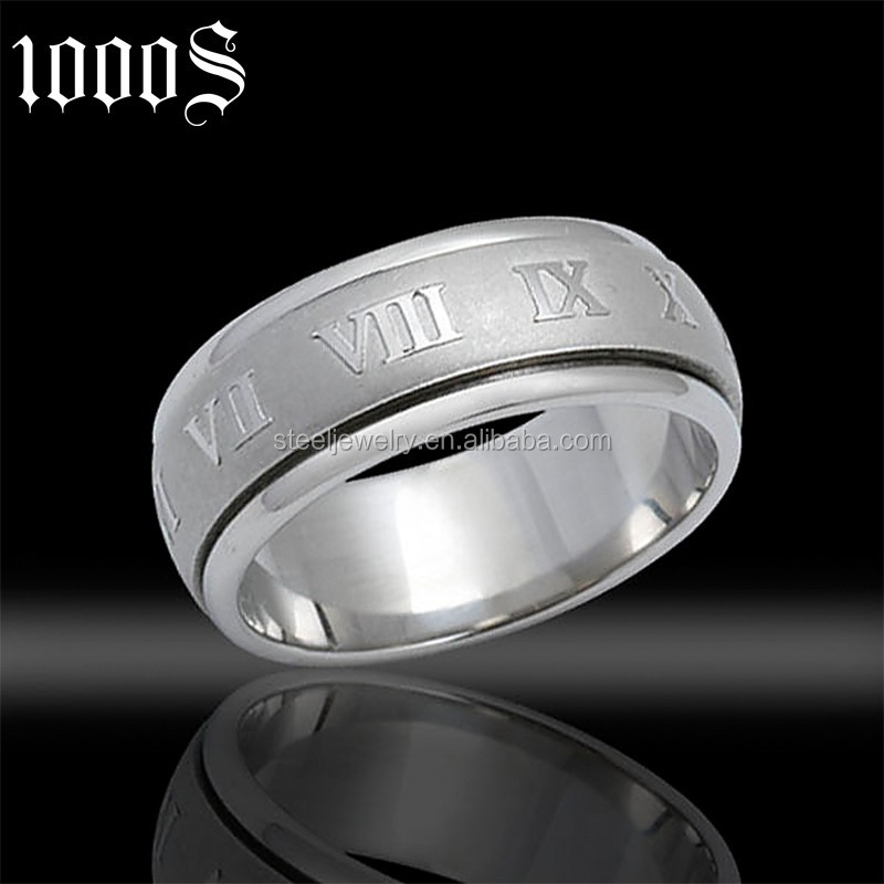 new design engraved letter none stone ring for wedding