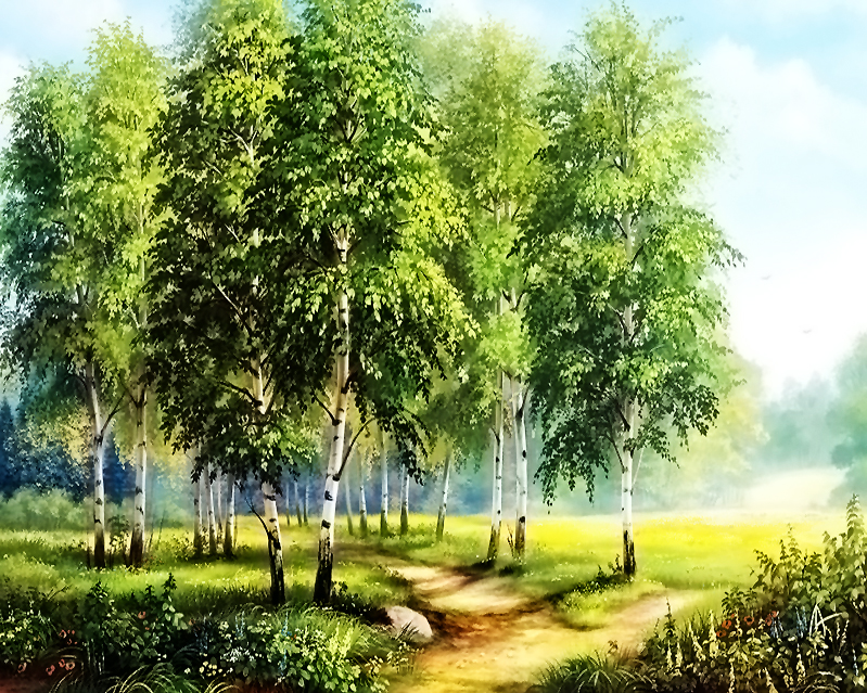 GZ622- 40*50 High Quality Canvas Beautiful Natural Scenery Art Dimond Painting by numbers