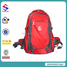 Adult sport school leisure bag hot selling school book backpack bag for traveling and hiking