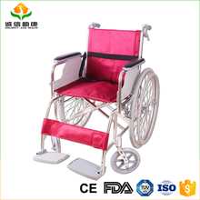 Durable lightweight easy to fold upgraded version free inflatable solid wheels Portable sale of used remote cheapest wheelchair
