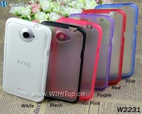 Mix Colors, PC TPU Case For HTC One X, Hybrid Case Dual Cover for One X S720e