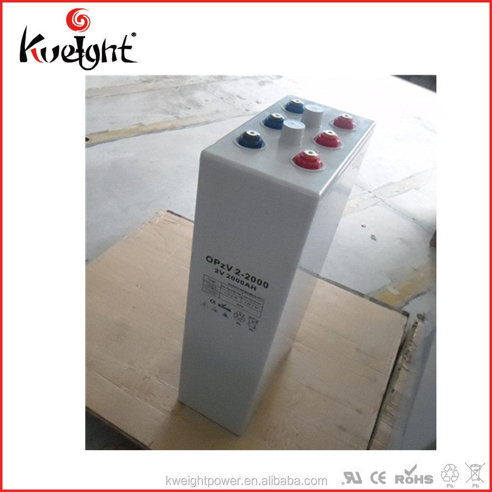 Big storage cell 2V2000AH opzv batteries for photovoltaic system