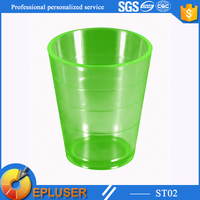 2015 hot selling 2 oz colorful plastic cup,60ml plastic shot glass