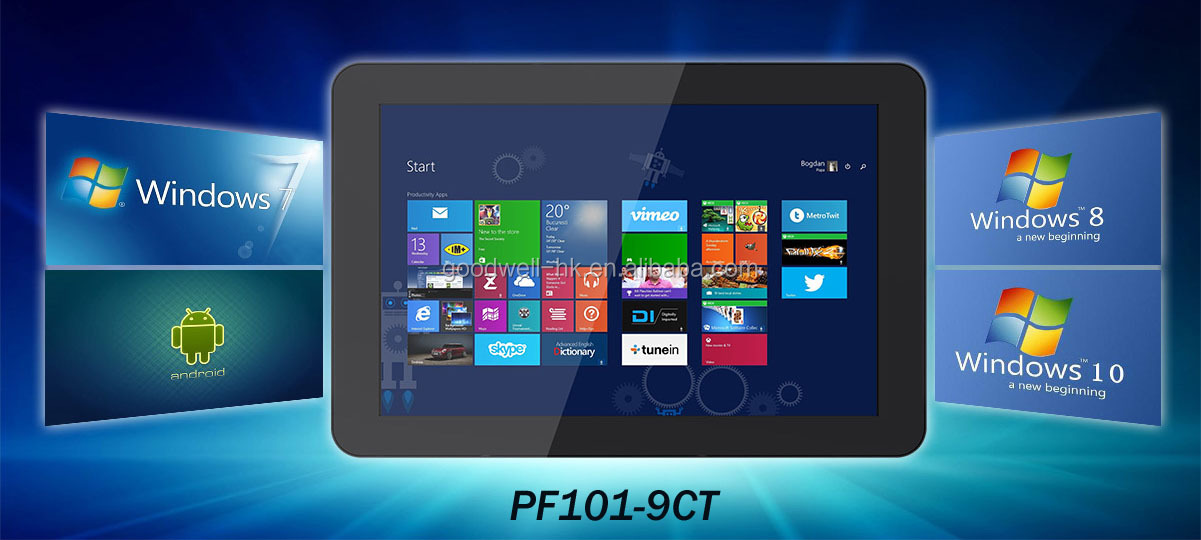 1280x 800 IPS Panel 10.1 Inch Capacitive Multi Touch LCD Monitor with USB VGA Interface