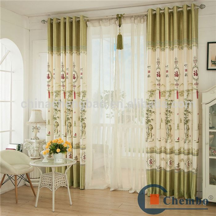 Chinese Style Bamboo Patterns Door Curtains