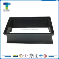 Black bitumen painting low price round metal water meter box