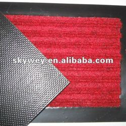Floor mat with pvc backing