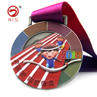 cheap price enamel heat printing colorful custom 3d medals