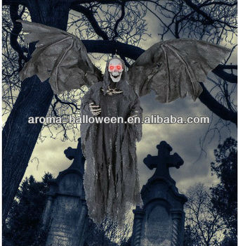 Halloween product animated reaper with wings buy for Animated flying reaper decoration