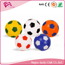 Lucky Craft PU foam Various Sizes promotional gifts soft reliever toys shape anti stress soccer footballs