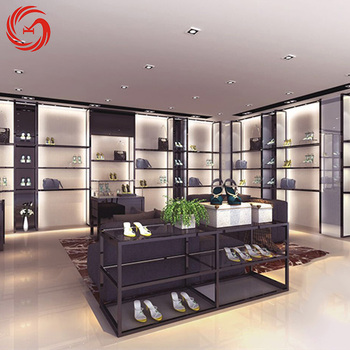 High end women's shoes shop interior design high heel shoe display