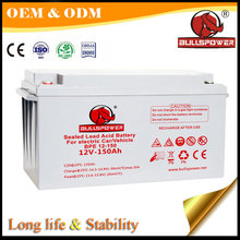 Good performance 12v 150ah electric vehicle vrla storage battery operated vehicle