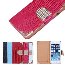 Beautiful diamond case for Iphone5 case with credit card slot