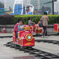 Outdoor Playground Kids Electric Mini Track Train For Amusement Park