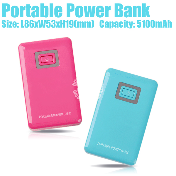 Portable Mobile Power Bank USB For Samsung Galaxy Note2 (5100mAh) Made in China